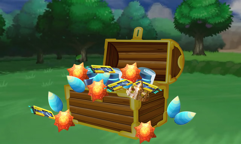 Pokemon Go evolution items in a chest