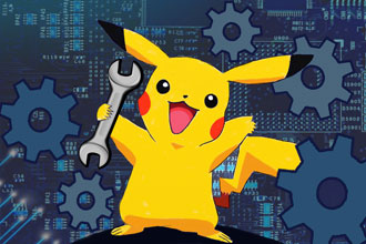 Pikachu with a wrench