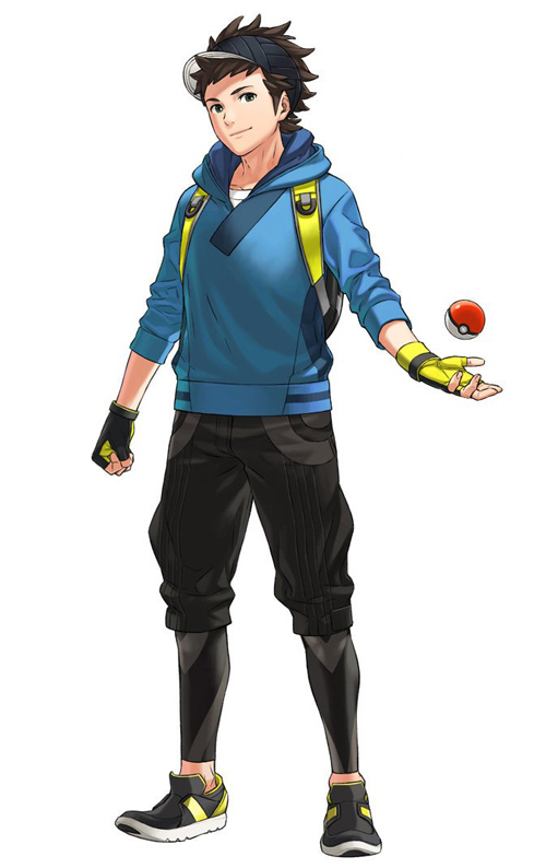 Male pokemon go avatar